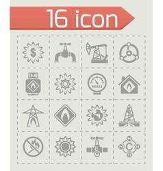 Natural gas icon set vector image