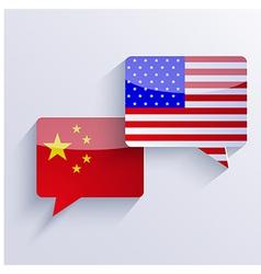 usa and china flags Eps10 vector image vector image