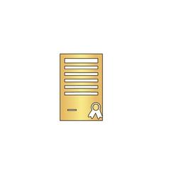 Certificate computer symbol vector image vector image