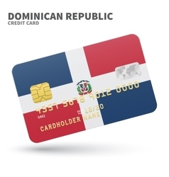 Credit card with dominican republic flag vector