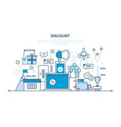 discounts vouchers gifts savings programs vector image