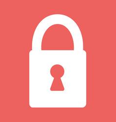 flat heart lock icon vector image vector image