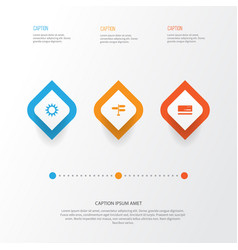 Journey icons set collection of direction vector