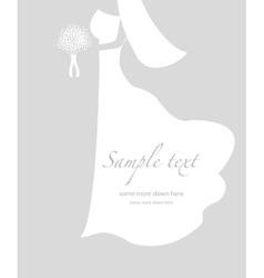 Soft wedding background vector image