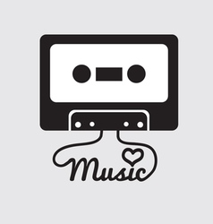 Tape Cassette vector image vector image