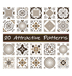 20 Attractive Patterns Art 02 vector image