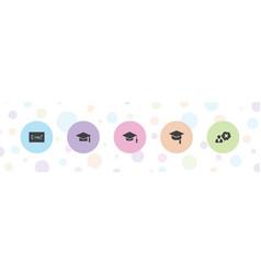 5 university icons vector