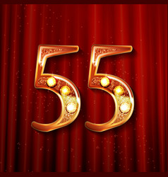 55 years anniversary celebration design vector image