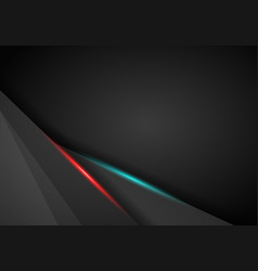 Abstract background metallic red and blue light vector