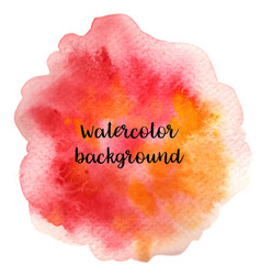 Abstract handdrawn colorful watercolor background vector