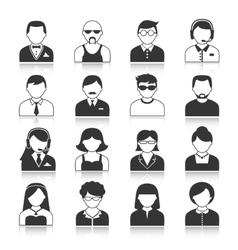 Avatar characters icons set vector