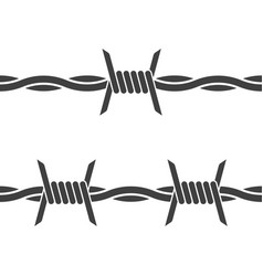 Barbed wire on white background seamless icon vector