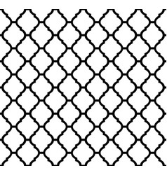 Black and white moroccan motif tile pattern vector