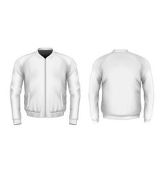bomber jacket in white vector image vector image