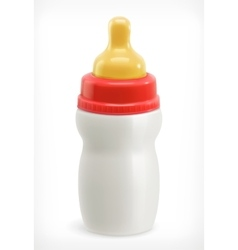 Bottle with pacifier vector image