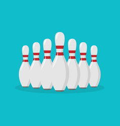 bowling pin flat icon vector image