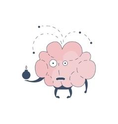 Brain Exploding Comic Character Representing vector