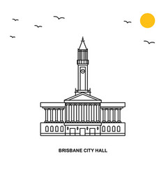 Brisbane city hall monument world travel natural vector