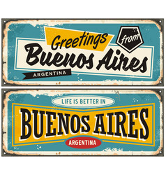 buenos aires argentina retro greeting card templat vector image