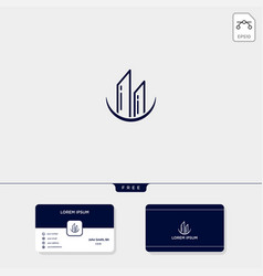 Build architect real estate logo template vector