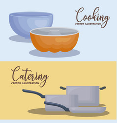 Catering concept design vector