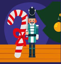 christmas nutcracker design vector image