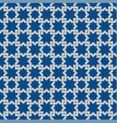 Classic blue moorish seamless ornament vector