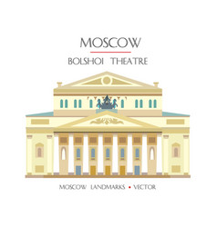 Colorful moscow landmark 10 vector
