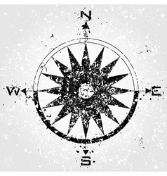 compass grunge vector image