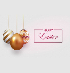 composition of easter eggs festive background on vector image