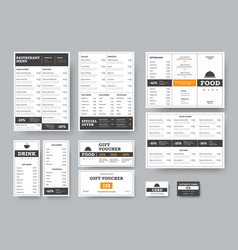 Corporate identity template for cafes and vector