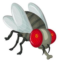 Cute little cartoon flies vector