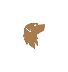 Dog head silhouette icon pet symbol design vector