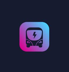 Electric bus clean public transport vector
