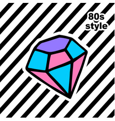 Fashion card with dyamond in pop art style vector