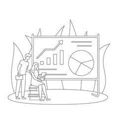 Finance strategy analytic data startup flat vector