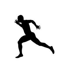 Finish line runner sprinter vector