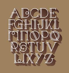 font script typeface handcrafted handwritten vector image
