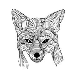 fox of wires vector image