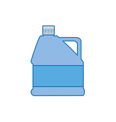 Gallon bottle plastic fill icon blue vector