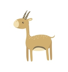 Gazelle realistic childish vector