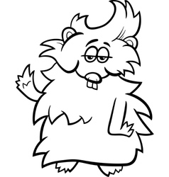 Guinea pig cartoon coloring page vector