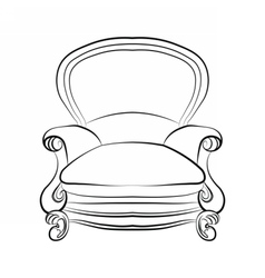 Imperial royal armchair with ornaments vector image