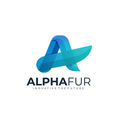 logo alpha fur gradient colorful style vector image
