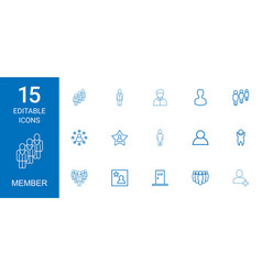 Member icons vector