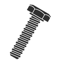 metal bolt icon simple style vector image