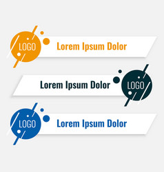 modern lower third banners set design template vector image