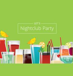 Nightclub party color card vector