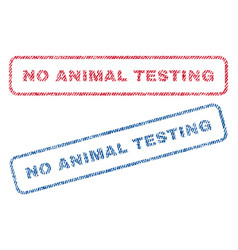 no animal testing textile stamps vector image vector image
