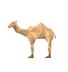 Origami camel vector image vector image